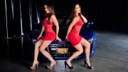 Bella Twins-Hot Wheels Photoshoot